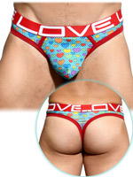 Andrew Christian - Love Pride Heart Mesh Thong