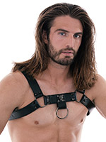 Skulls and Bones - Male Harness with Skulls and Spikes