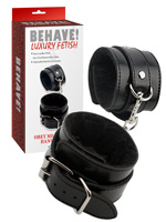 Behave! Luxury Fetish - Obey Me Leather Hand Cuffs