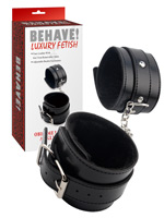 Behave! Luxury Fetish - Obey Me Leather Ankle Cuffs